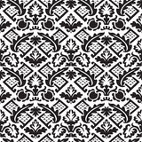 Vector damask seamless floral pattern black and white background Royalty Free Stock Photography