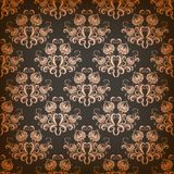 Vector damask seamless on gray background Royalty Free Stock Image