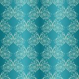 Vector damask seamless with lace ornament. Vector damask seamless with lace floral elements.  Royal wallpaper Stock Photo