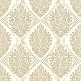 Vector damask seamless pattern background. Classical luxury old fashioned damask ornament, royal victorian seamless royalty free illustration
