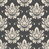 Vector damask seamless pattern background. Classical luxury old fashioned damask ornament, royal victorian seamless Royalty Free Stock Photography