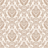 Vector damask seamless pattern background. Classical luxury old fashioned damask ornament, royal victorian seamless Royalty Free Stock Photo