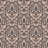 Vector damask seamless pattern background. Classical luxury old fashioned damask ornament, royal victorian seamless Stock Photography