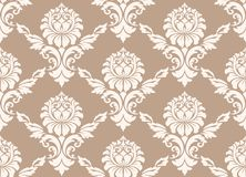 Vector damask seamless pattern background. Classical luxury old fashioned damask ornament, royal victorian seamless Stock Photos