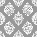 Vector damask seamless pattern background. Classical luxury old fashioned damask ornament, royal victorian seamless. Texture for wallpapers, textile, wrapping stock illustration