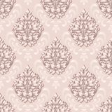 Vector damask seamless pattern background. Classical luxury old fashioned damask ornament, royal victorian seamless stock illustration