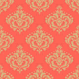 Vector damask seamless pattern background. Classical luxury old fashioned damask ornament, royal victorian seamless texture for wallpapers, textile, wrapping Stock Photo