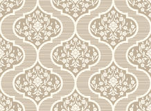 Vector damask seamless pattern background. Classical luxury old fashioned damask ornament, royal victorian seamless texture for wallpapers, textile, wrapping Royalty Free Stock Image