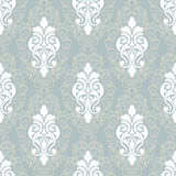 Vector damask seamless pattern background. Classical luxury old fashioned damask ornament, royal victorian seamless texture for wallpapers, textile, wrapping Royalty Free Stock Photography