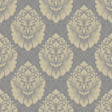 Vector damask seamless pattern background. Classical luxury old fashioned damask ornament, royal victorian seamless texture for wallpapers, textile, wrapping Royalty Free Stock Photo