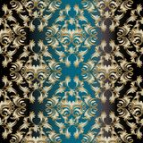 Vector damask seamless pattern background. stock illustration