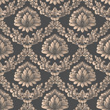 Vector Damask Seamless Pattern Background. Elegant Luxury Texture For Wallpapers, Backgrounds And Page Fill. 3D Elements Royalty Free Stock Photo
