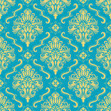 Vector damask seamless pattern background. Stock Image