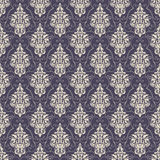 Vector damask seamless pattern background. Royalty Free Stock Image