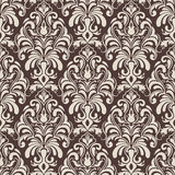 Vector damask seamless pattern background. Royalty Free Stock Photography