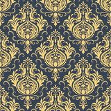 Vector damask seamless pattern background. Royalty Free Stock Images