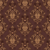 Vector damask seamless pattern background. Stock Image