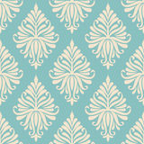 Vector damask seamless pattern background. Stock Photo