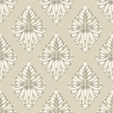 Vector damask seamless pattern background. Stock Images