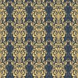Vector damask seamless pattern background. Royalty Free Stock Photo