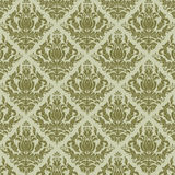 Vector damask seamless pattern background. Stock Photos