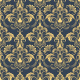 Vector damask seamless pattern background. Stock Photography