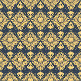 Vector damask seamless pattern background. Royalty Free Stock Photo