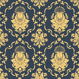 Vector damask seamless pattern background. Royalty Free Stock Photos