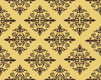 Vector damask seamless pattern background. Elegant luxury texture for wallpapers, backgrounds and page fill. Royalty Free Stock Photos