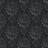 Vector damask seamless pattern background. Elegant Royalty Free Stock Photos
