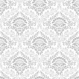 Vector damask seamless pattern background. Exquisite floral baroque template. royalty free illustration