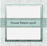 Vector damask seamless pattern background. Light blue flower shape. Pattern swatches included for illustrator user, pattern swatches included in file, for your royalty free illustration