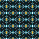Vector damask seamless pattern background oval curve cross blue vector illustration