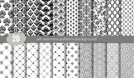 Vector damask seamless pattern background.pattern swatches included for illustrator user Stock Photography