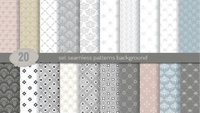 Vector damask seamless pattern background.pattern swatches included for illustrator user, pattern swatches included in file. For your convenient use Royalty Free Stock Images