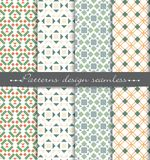 Vector damask seamless pattern background. pattern swatches included for illustrator , swatches Royalty Free Stock Images