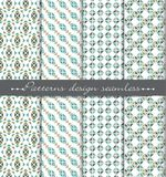 Vector damask seamless pattern background. pattern swatches included for illustrator , swatches Royalty Free Stock Photo