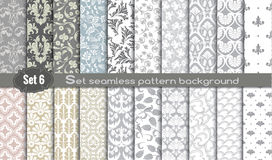 Vector damask seamless pattern background. Pattern swatches included for illustrator user, pattern swatches included in file, for your convenient use Stock Image