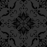 Vector damask seamless pattern element. Classical luxury old fashioned damask ornament, royal victorian seamless texture Stock Photos