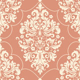 Vector damask seamless pattern element. Classical luxury old fashioned damask ornament, royal victorian seamless texture. For wallpapers, textile, wrapping Stock Photo