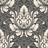 Vector damask seamless pattern element. Classical luxury old fashioned damask ornament, royal victorian seamless texture. For wallpapers, textile, wrapping Royalty Free Stock Image
