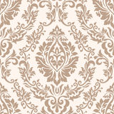 Vector damask seamless pattern element. Classical luxury old fashioned damask ornament, royal victorian seamless texture. For wallpapers, textile, wrapping Stock Images