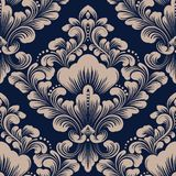 Vector damask seamless pattern element. Classical luxury old fashioned damask ornament, royal victorian seamless texture. For wallpapers, textile, wrapping stock illustration