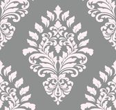 Vector damask seamless pattern element. Classical luxury old fashioned damask ornament, royal victorian seamless texture Stock Image