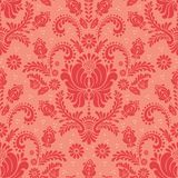 Vector damask seamless pattern element. Classical luxury old fashioned damask ornament, royal victorian seamless texture stock illustration
