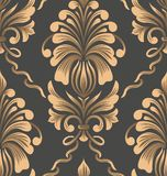 Vector damask seamless pattern element. Classical luxury old fashioned damask ornament, royal victorian seamless texture stock photography