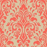 Vector damask seamless pattern element. Classical luxury old fashioned damask ornament, royal victorian seamless texture for wallpapers, textile, wrapping Royalty Free Stock Photos