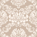 Vector damask seamless pattern element. Classical luxury old fashioned damask ornament, royal victorian seamless texture for wallpapers, textile, wrapping Stock Image