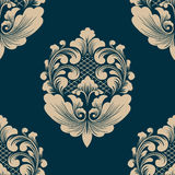 Vector damask seamless pattern element. Classical luxury old fashioned damask ornament, royal victorian seamless texture for wallpapers, textile, wrapping Royalty Free Stock Images