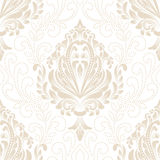 Vector damask seamless pattern element. Classical luxury old fashioned damask ornament, royal victorian seamless texture for wallpapers, textile, wrapping Stock Photos
